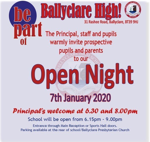 Ballyclare High Open Night 2020